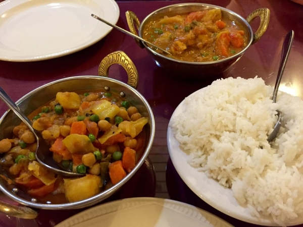 Mix Vegetable Curry With Rice