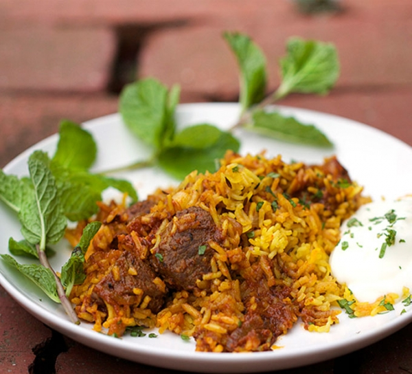 Lamb Biryani(small Portion) Served With Raita