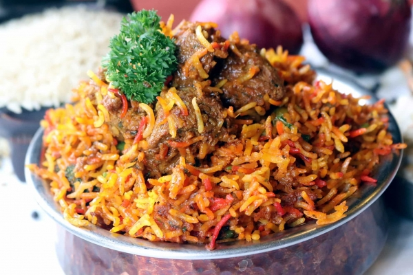Lamb Biryani  On Bone
