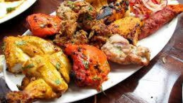 Mix Tandoori Meat Platter For 1