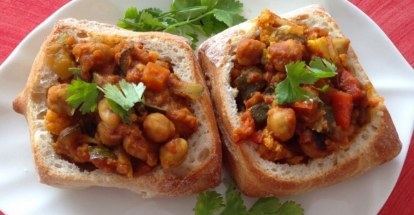 Vegetable Bunny Chow